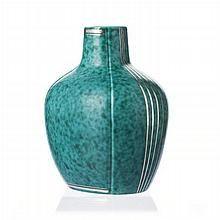 WILHELM KAGE (1889-1960) / GUSTAVSBERG - Paunchy vase, Argenta