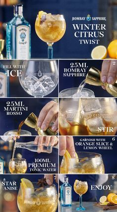 Method:  1. Fill balloon glass to rim with good ice 2. Stir until frosted then strain excess liquid from glass 3. Add 25ml Bombay Sapphire and 25 ml Martini Rosso  4. Stir drink to acclimate contents  5. Tilt glass and pour 100 ml chilled tonic water down side of glass and lift once gently using bar spoon 6. Garnish with orange slice, lemon wheel and star anise