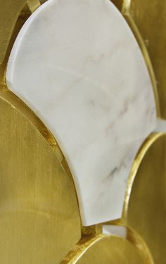 In gold leaf and marble Ostentation appears as representation of luxury and refinement. Their pieces gently joined together. #folder #furniture #marble See more at http://memoir.pt/
