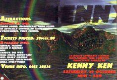 Kenny Ken : Saturday, 29 October 1994 Flyers, Sydney, Rave, October, Raves, Ruffles, Leaflets