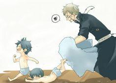 Okumura Rin, Okumurua Yukio, (Father) Fujimoto Shiro × Okumura twins || Ao no Exorcist × Blue Exorcist