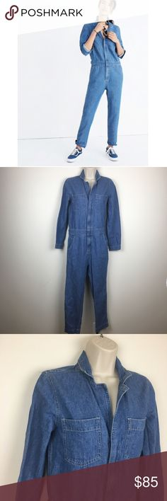04a15f6432c3 Madewell Denim Coverall Jumpsuit Condition  Gently used
