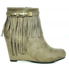 QQ237-8016 Wedges, Boots, Fashion, Crotch Boots, Moda, Fashion Styles, Shoe Boot, Fashion Illustrations, Wedge