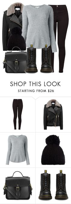 """Untitled #11772"" by vany-alvarado ❤ liked on Polyvore featuring American Apparel, Reiss, MICHAEL Michael Kors, Barts, The Cambridge Satchel Company and Dr. Martens"