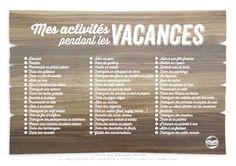 [Mise à jour : Juillet 2014]Nouveau poster d'activités mis à jour, cliquer ici ! Les grandes vacances d'été… un bonheur pour les enfants, un casse-tête pour les parents ! On n'a pas tous la chance de pouvoir envoyer nos enfants pendant 2 mois chez les grands-parents ou en colo afin …