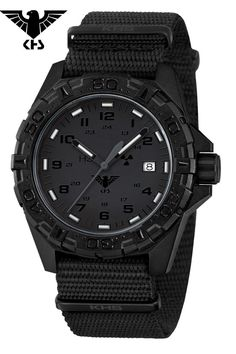 KHS Tactical Watches German Police Watch Reaper XTAC Red H3 Date KHS.REXT.NB…
