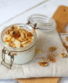Dit toetje geeft je het gevoel van appeltaart, maar is heel simpel om te bereiden. Waar kaneel wel niet goed voor is!