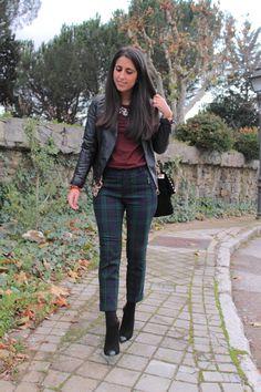 Maria trs chic: Pantalón cuadros/Plaid pants