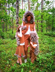 Hedgehog costume made from soft fleece and consists of pants and vest with hood. Needles is made from foam. Can be useful in carnevals, children activities and parties. Hedgehog HAT You can find here: