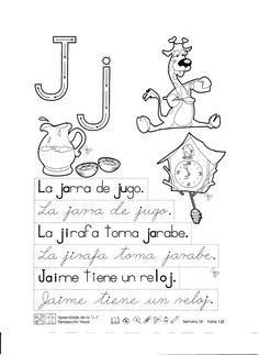 """Ficha imprimible para reforzar lo aprendido con la letra j para niños de 5 y 6 años. Aprendizaje de la """"J"""", """"j"""" percepción visual 1er Grado Haz clic en la imagen para descargar"""