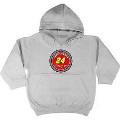 Checkered Flag Jeff Gordon Toddler Littlest Fan Pullover Hoodie - Gray