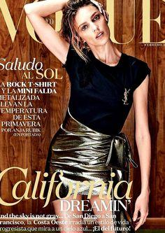 Anja Rubik by Chris Colls Vogue Mexico February 2017 V Magazine, Vogue Magazine Covers, Fashion Magazine Cover, Fashion Cover, Magazine Cover Design, Vogue Covers, Anja Rubik, Marie Claire, Vanity Fair