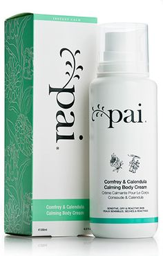 Comfrey & Calendula Calming Body Cream by Pai Skincare at b-glowing. An intensely hydrating and therapeutic cream formulated for sensitive or allergy-prone skin. Beauty concierge available. Calendula, Face Makeup Tips, Pai Skincare, Essential Oils For Skin, Skin Cream, Skin Treatments, Bath And Body, Creme, Sensitive Skin
