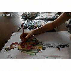 Artı Sanat Akademi Sanat Kuru boya Moda Fashion Renk Tasarım Eskişehir color paint interesting Resim Selçuk Karabüyük