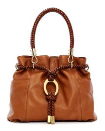 Michael Kors Skorpios Pebbled Leather Drawstring Satchel
