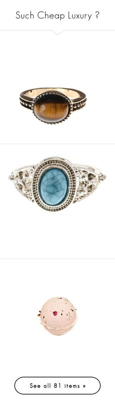 """""""Such Cheap Luxury 💎"""" by youagain23 ❤ liked on Polyvore featuring jewelry, rings, stone rings, brown stone jewelry, brown jewelry, stone jewellery, stone jewelry, turquoise stone jewelry, turquoise stone ring and beauty products"""