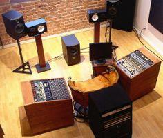 """19"""" equipment racks - Trolley Racks, Real Wood Veneer www.studioracks.co.uk"""