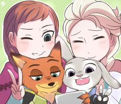 Frozen and Zootopia.