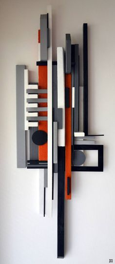 construct 1 / Reclaimed Art by Labros Sekliziotis Geometric Sculpture, Abstract Sculpture, Wood Sculpture, Wall Sculptures, Geometric Art, Sculpture Ideas, Bronze Sculpture, Contemporary Landscape, Contemporary Paintings