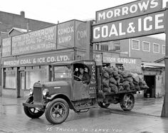 A 1927 or earlier Stewart truck, equipped with two-wheel brakes, heading out for a delivery of the product from Morrow's Coal and Ice Company located at 1025 Main Street in Vancouver. Description from pinterest.com. I searched for this on bing.com/images