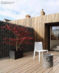 gabion dividing wall between two cottages http://www.gabion1.co.uk