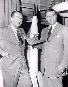 During the mid-1950s, Walt Disney produced educational films on the space program with  Wernher von Braun https://en.wikipedia.org/wiki/Walt_Disney#Post-war_period:_1945.E2.80.931955 He was ex member of the Nazi Party and the SS   https://en.wikipedia.org/wiki/Schutzstaffel