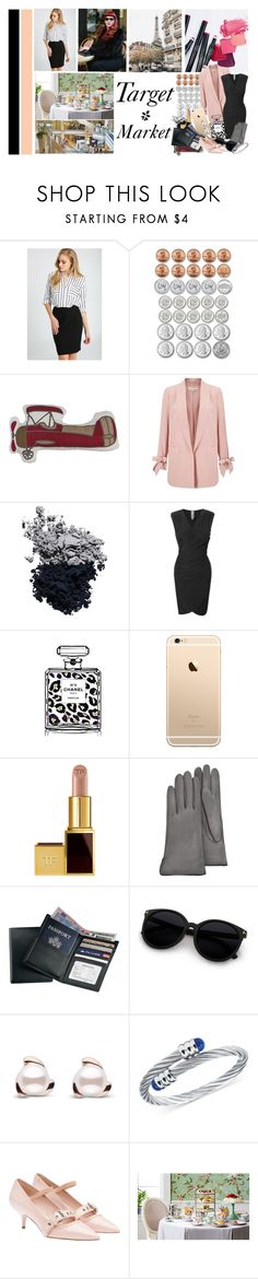 """""""Marketing Target Market"""" by marionicole ❤ liked on Polyvore featuring Ally Fashion, Ashley, Lolli Living, Miss Selfridge, Tom Ford, LE3NO, Chanel, Forzieri, Royce Leather and Charriol"""