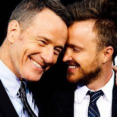 Aaron Paul and Bryan Cranston at the AMC celebration of the final episodes of 'Breaking Bad' at Sony Pictures Studios in Culver City, California
