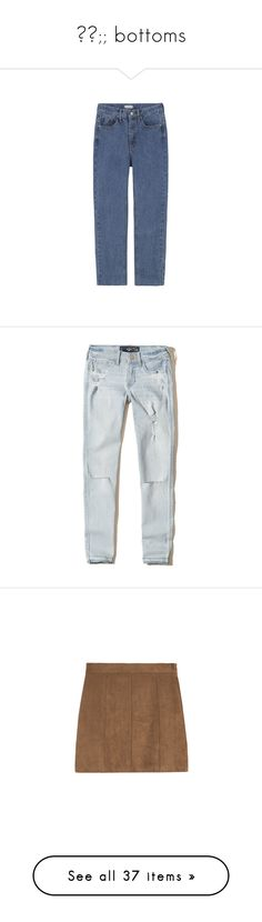 """""""✧✧;; bottoms"""" by snarky-avenger-xo ❤ liked on Polyvore featuring jeans, pants, clothes-pants, clothing - trousers, loose fitting jeans, five pocket jeans, straight-leg jeans, loose jeans, loose straight leg jeans and bottoms"""