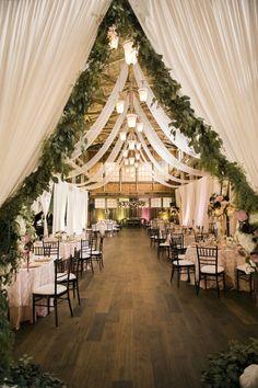 romantic blush barn wedding decoration ideas