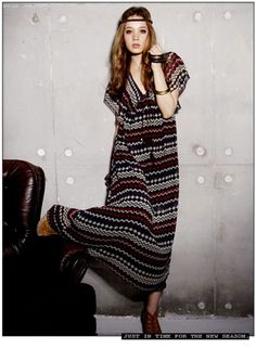 Exotic Colorful Stripes Geometric Pattern Maxi Dress Red on BuyTrends.com, only price $13.99