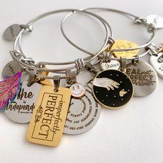 Custom Charms, Memorial Gifts, Handmade Accessories, Stainless Steel Bracelet, Anniversary, Charmed, Bracelets, Jewelry, Jewlery