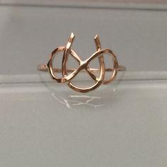 14k Infinity Ring, 14k horse shoe ring, 14k Horse shoe ring, 14k gold ring, solid gold horse shoe ring, 14k promise ring, engagement ring
