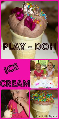 Play-Doh Ice Cream from Four Little Piglets