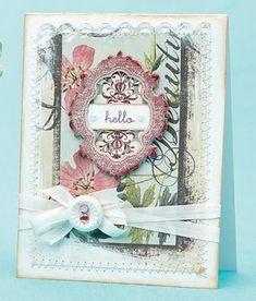 Glittery Hello Card by @Betsy Veldman
