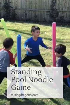 Standing Pool Noodle Game * ages 4+ ⋆ Raising Dragons