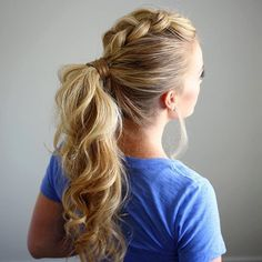 Dutch Mohawk Ponytail  Creating a mental checklist of some hairstyles to wear this Summer! Ponytails are always a go-to when it's hot out! Tutorial for this style linked in my bio if you want to check it out! #missysueblog