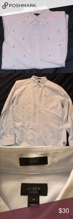 Light blue anchor button up Light blue anchor collared shirt, in perfect condition. J. Crew Shirts Dress Shirts