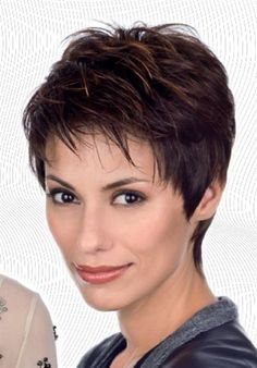 Icy Short Pixie Cut - 60 Cute Short Pixie Haircuts – Femininity and Practicality - The Trending Hairstyle Short Hairstyles For Thick Hair, Haircut For Thick Hair, Short Pixie Haircuts, Short Hair Cuts For Women, Pixie Hairstyles, Easy Hairstyles, Curly Hair Styles, Beautiful Hairstyles, Shortish Hairstyles