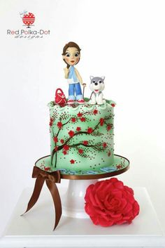 So cute cake with puppy