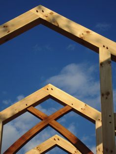 Heirloom timber framing using mortise and tenons joined with wood pins