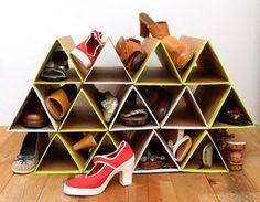 Подставка для обуви из картона своими руками
