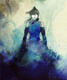Avatar Korra Watercolor. I'm a fan of the watercolour.