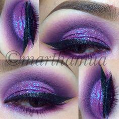 Purple eyeshadow with glitter