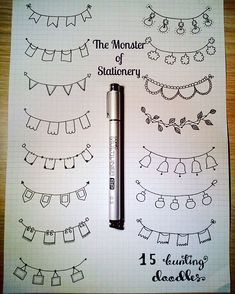 variety of banner doodles for bullet journals and planners. Give these banner headers a try in your next bujo spread Bullet Journal Headers, Bullet Journal Banner, Bullet Journal Notes, Bullet Journal Aesthetic, Bullet Journal 2019, Bullet Journal Ideas Pages, Bullet Journal Inspiration, Borders Bullet Journal, Bullet Journal Dividers