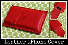 Free pattern: Leather iPhone cover · Sewing | CraftGossip.com