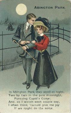 Abington Park #Northants #Poetry #Postcard #Vintage
