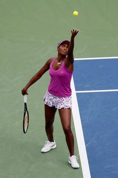 8/17/15 Before #VenusWilliams advanced to the 2nd rd of the W&S Open, #EleVenbyVenus said ·   See you on the court! #FleurDuMonde collection #CincyTennis #tennis #fashion