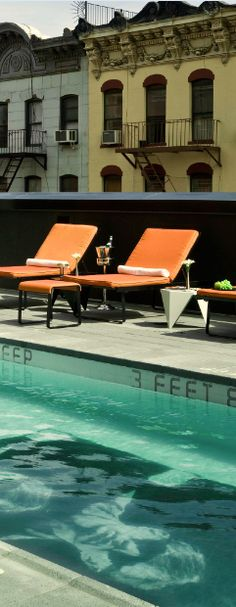 Find a rooftop #pool in #NYC.