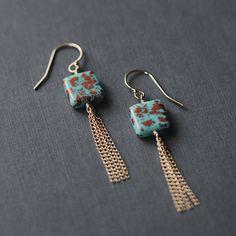 santorini earrings by elephantine